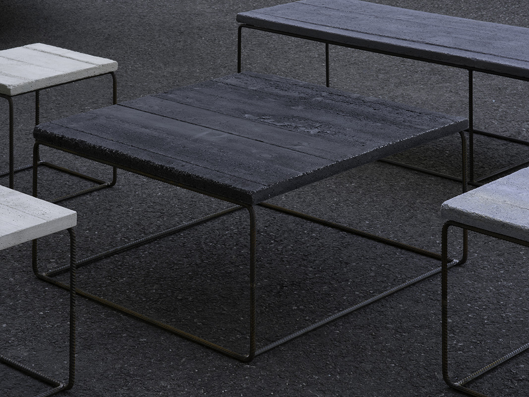 Steel concrete furniture